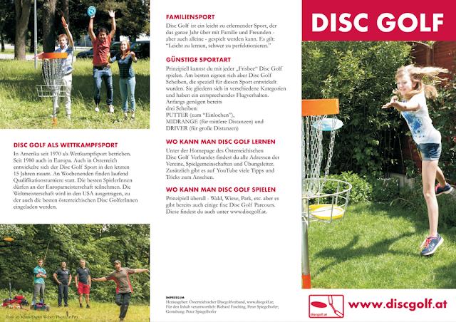 ÖDGV Disc Golf Infofolder Front