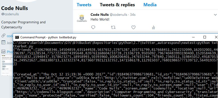 How to create a simple twitter bot in Python - CodeNulls