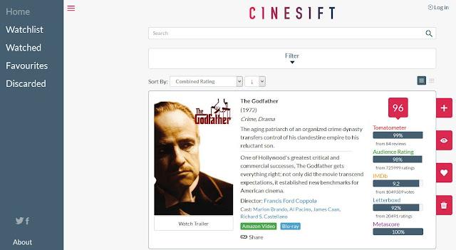 cinesift movie rating