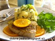 Pečený tuniak s pomarančom - recept