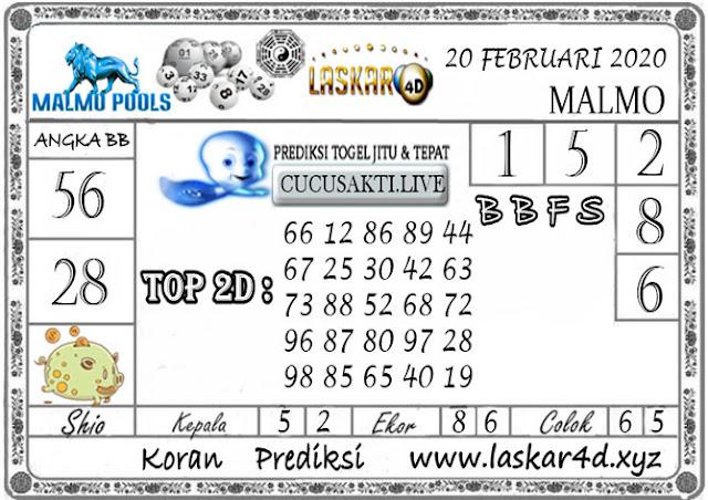 Prediksi Togel MALMO LASKAR4D 20 FEBRUARI 2020