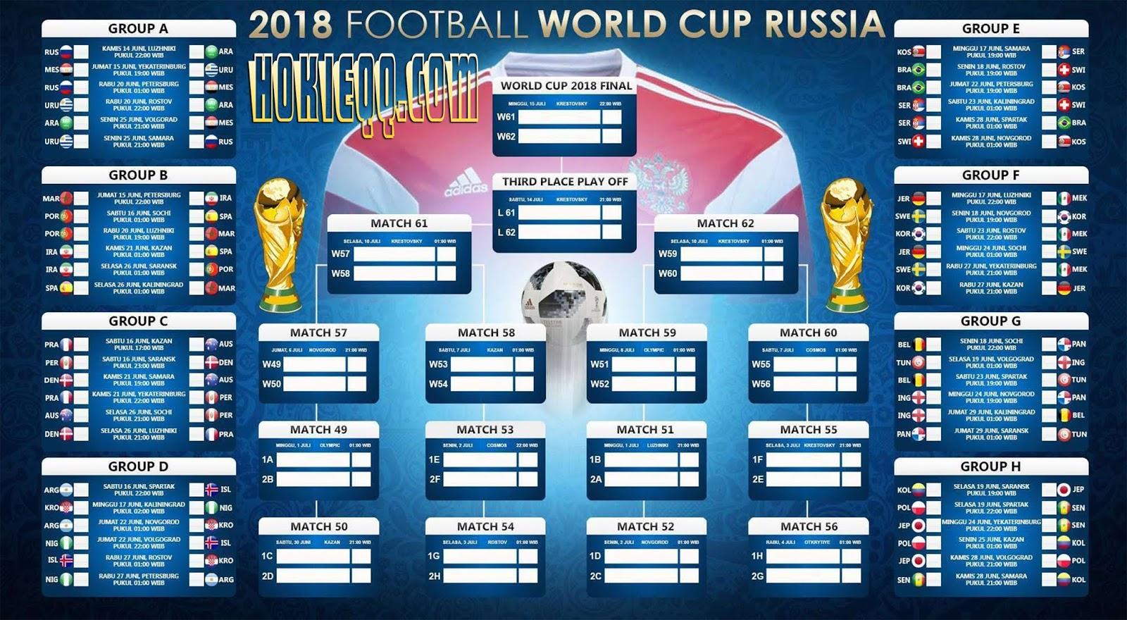 Jadwal Pertandingan Piala Dunia 2018  BalanceQQ  Dunia