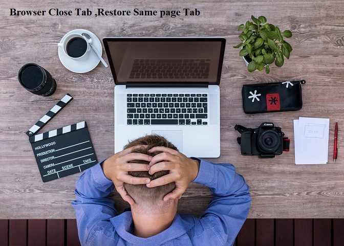 How to restore close browser page