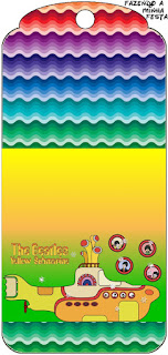 Beatles Yellow Submarine  Free Printable Tags.
