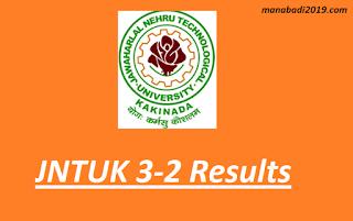 Manabadi JNTUK 3-2 Sem Nov 2018 Results B.tech