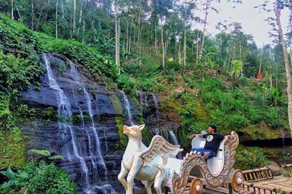Indah Waterfall Wanagiri Wisata Selfie dengan Kereta Kuda