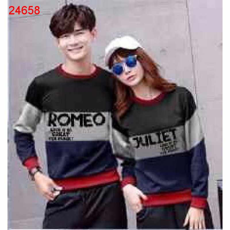 Jual Sweater Couple Sweater Romeo Juliet Hitam - 24658