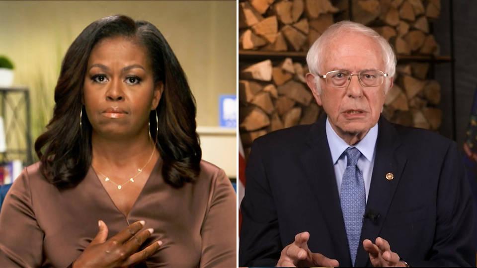 Sanders y Michelle Obama Vs Trump