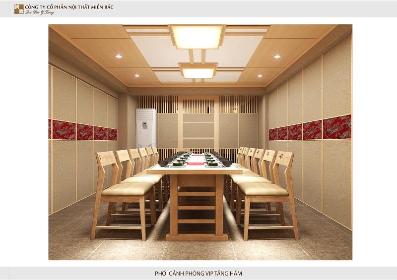 Thiết kế nhà hàng kiểu Nhật tôn trọng sự riêng tư của khách hàng