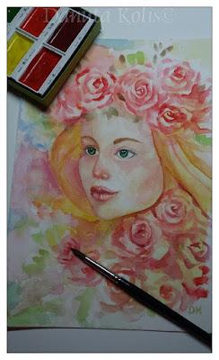 Akwarela: Róże/ Roses