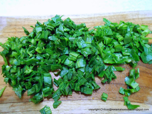 Spinach chopped