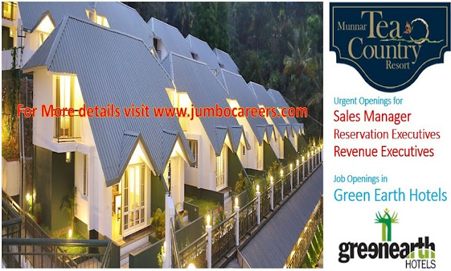 hotel sales manager opening in kerala, Munnar resort job openings latest