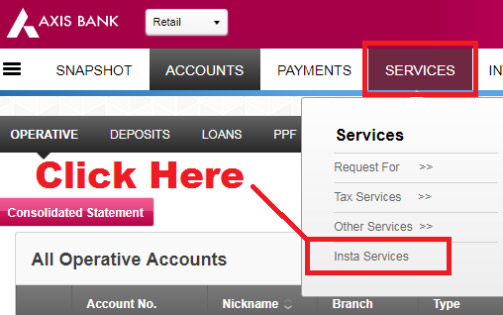 how to transfer axis bank account from one branch to another branch