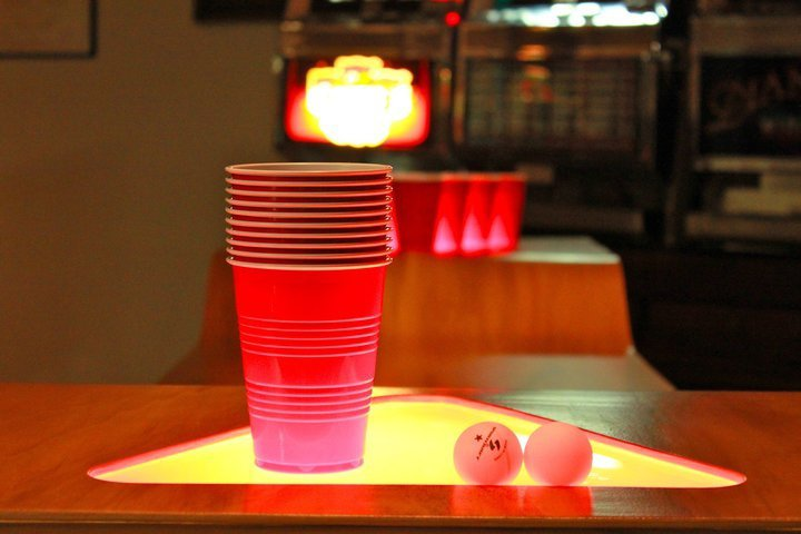Light Up Beer Pong Tables