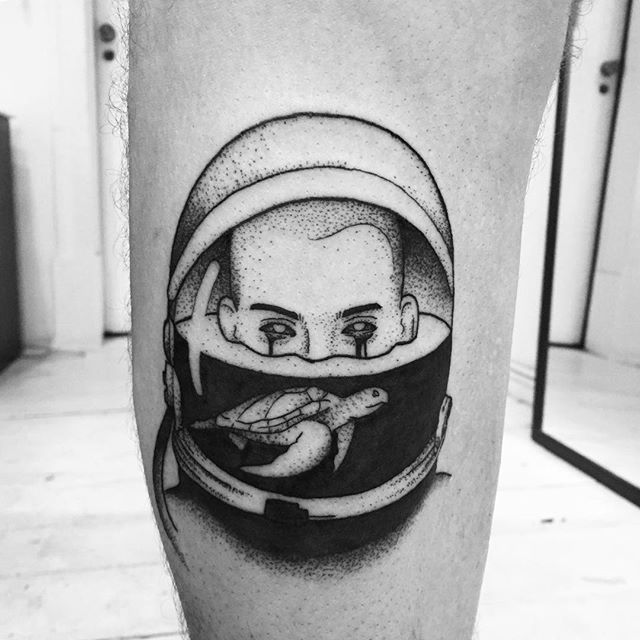 astronaut space tattoo