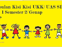 Kisi Kisi UKK/ UAS Kelas 1 SD/ MI Semester 2/ Genap