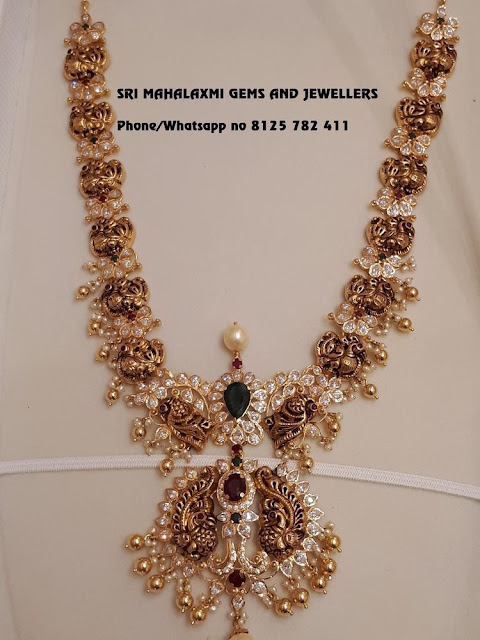 Parrot and Peacock Set by Mahalaxmi Jewellers