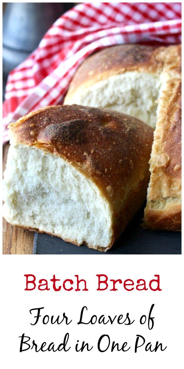 Irish Batch Bread draped in a checkered cloth