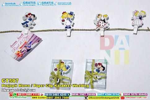 Penjepit Memo  Paper Clip Karakter Wedding  Souvenir