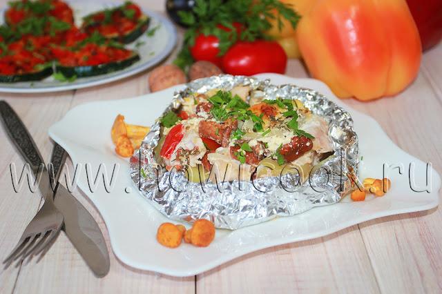 рецепт лисичек с мясом и овощами