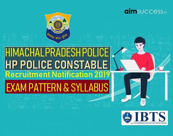 Himachal Pradesh - HP Police Constable Exam Pattern & Syllabus 2019