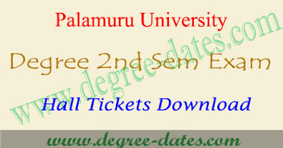 PU degree 2nd sem hall tickets 2017 download palamuru university