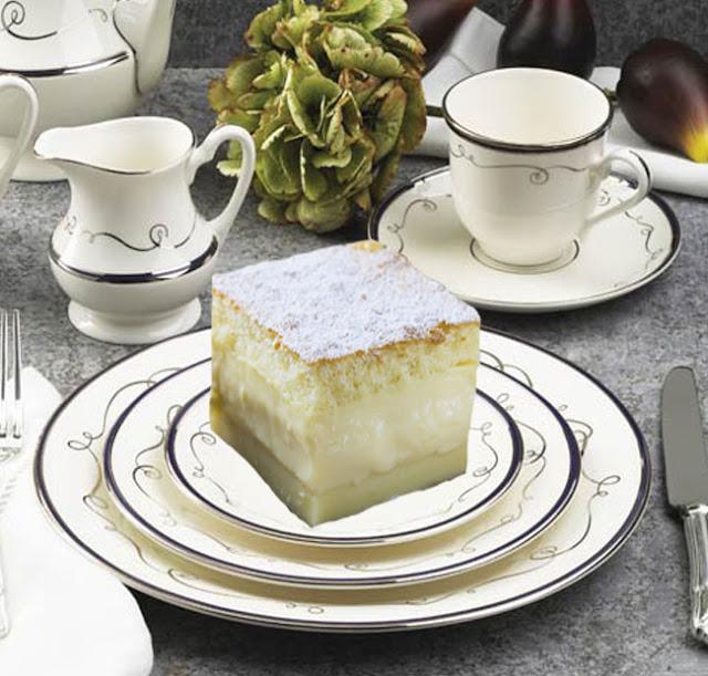 Keto Lemon Magic Custard Cake - Low Carb