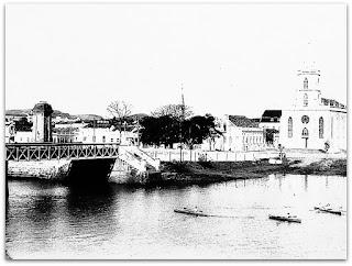 Rio dos Sinos, Ponte 25 de Julho e Igreja Matriz de São Leopoldo, no Museu Histórico de São Leopoldo