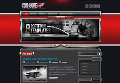 Freedownload Template Blogger ChromeGT Red Version - ElTheme