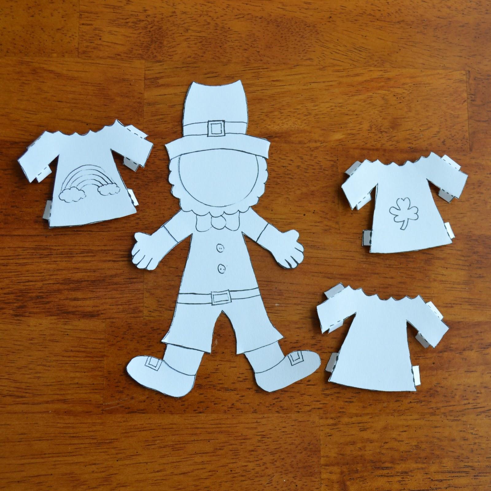 East Coast Mommy: ECM Kids\' Craft Club - #12 {Leprechaun Paper doll ...