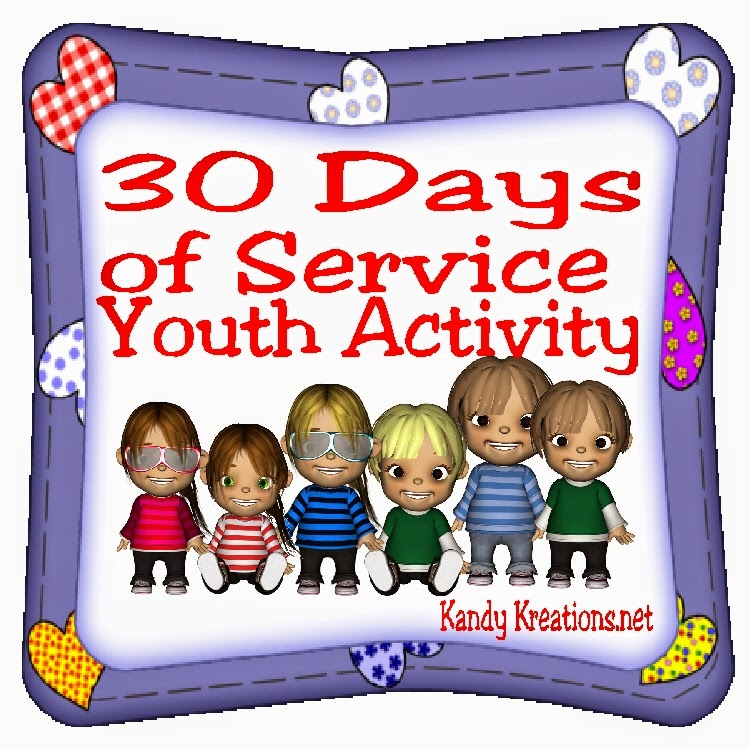 Give a real gift of love with 30 days of service for your family. This activity is designed for a youth service activity but can be used for a family home evening lesson or as a way to serve someone you love.