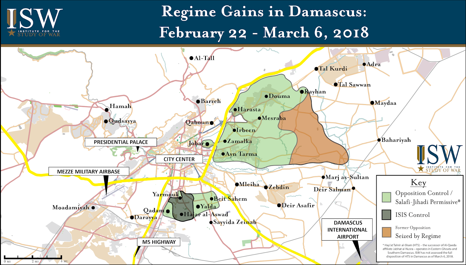 ISW Blog: Regime Gains in Damascus, Syria: February 22 - March 6, 2018