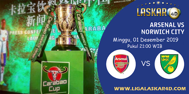 Prediksi Pertandingan Bola Norwich City vs Arsenal 01 Desember 2019