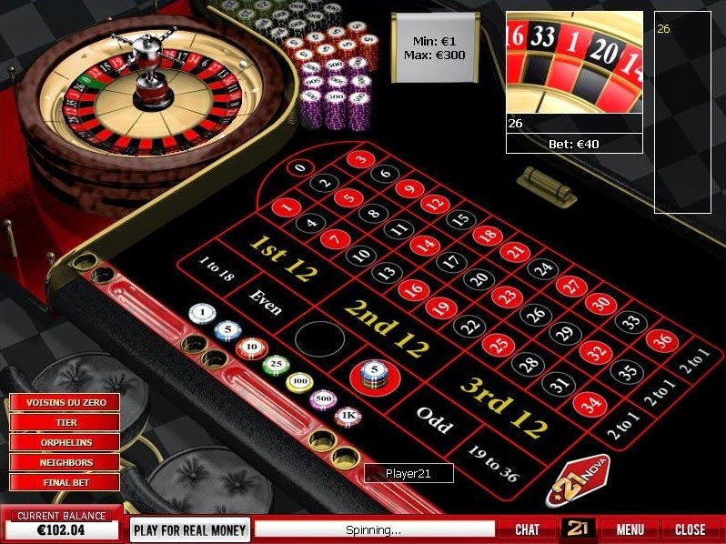 21 Nova Casino Roulette Screen