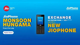 Jio Monsoon Hungama Exchanges Offer Details