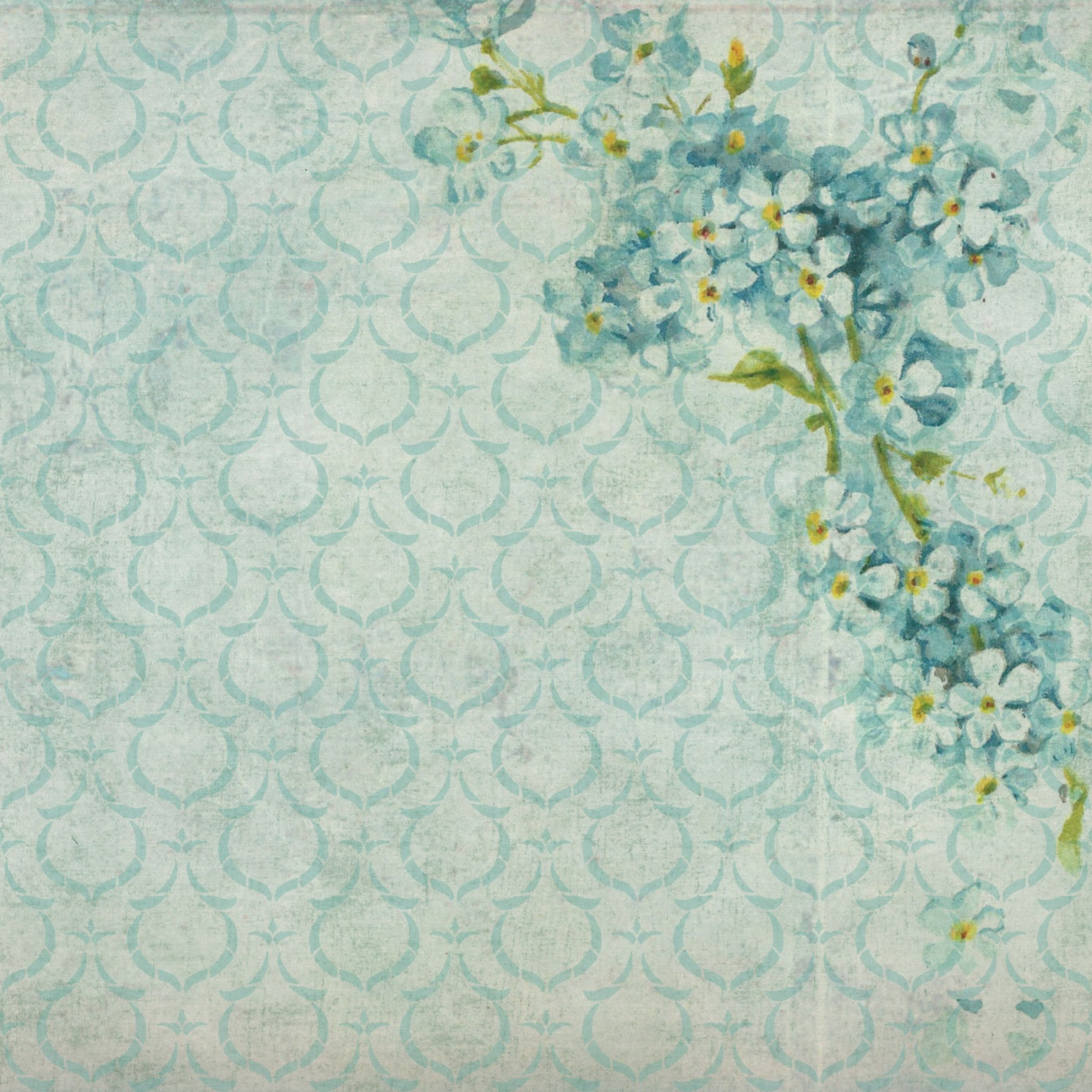 The Graphics Monarch Free Background Digital Flower Papers 6 Inch