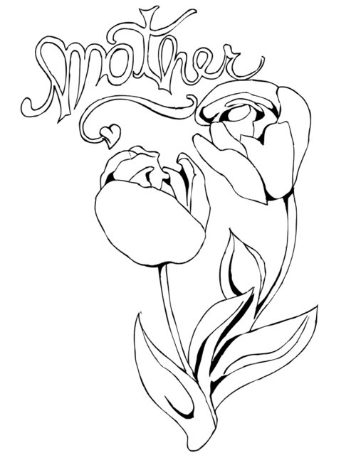 coloring pages of flowers and hearts | Hearts Flowers Coloring Pages For Kids >> Disney Coloring ...