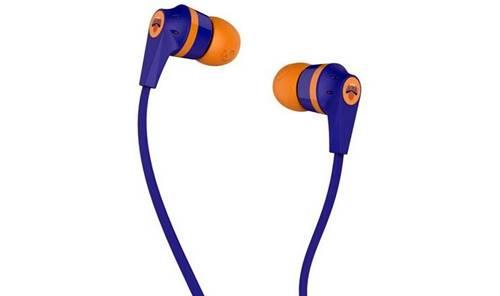 Os fones de ouvido Skullcandy Ink'd Knicks traz cores que fazem referencia a NBA e tem 50mW de potência