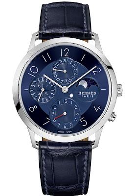 HERMÈS Slim d'Hermès Quantième Perpétuel Platine (perpetual calendar model in platinum)
