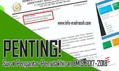 Surat Pengantar Pemutakhiran EMIS 2017-2018 https://emispendis.kemenag.go.id/emis_madrasah