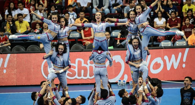 Reigning UAAP Cheerdance Competition champion Adamson Pep Squad