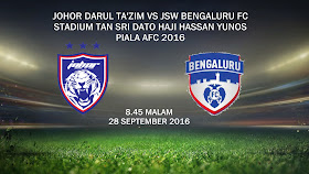 JDT Vs JSW Bengaluru 28 Sept 2016