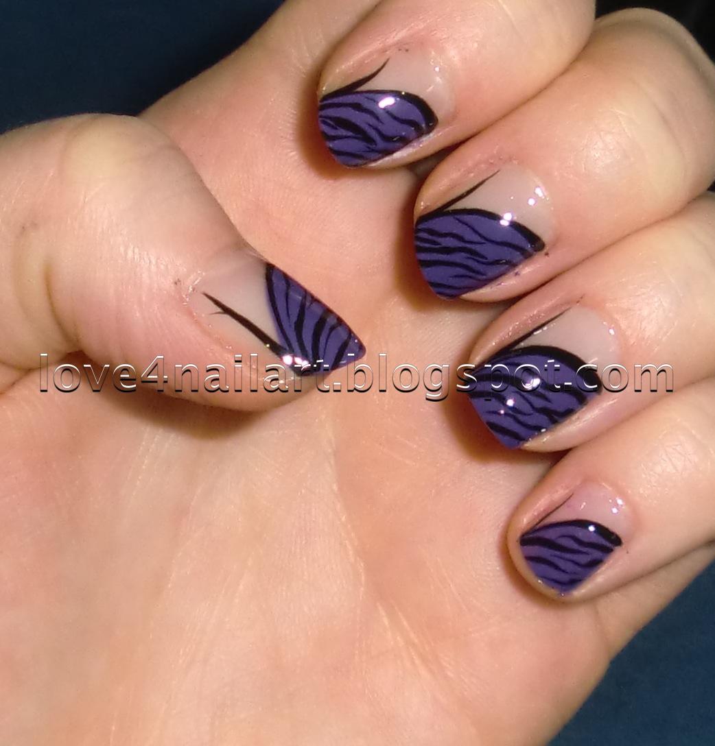 Love4NailArt: Purple Zebra Nail Art