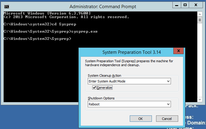 How to Sysprep Windows Server 2012R2 ~ Migration King