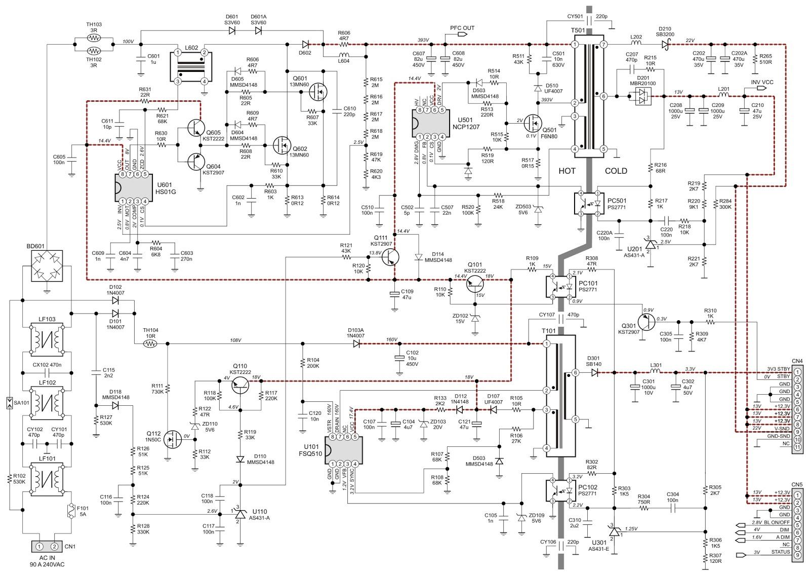 smps schematic diagram kubota starter wiring philips plhe p986a  power supply circuit