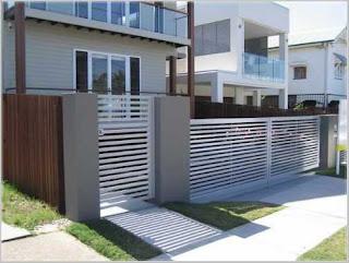 pagar rumah minimalis warna putih