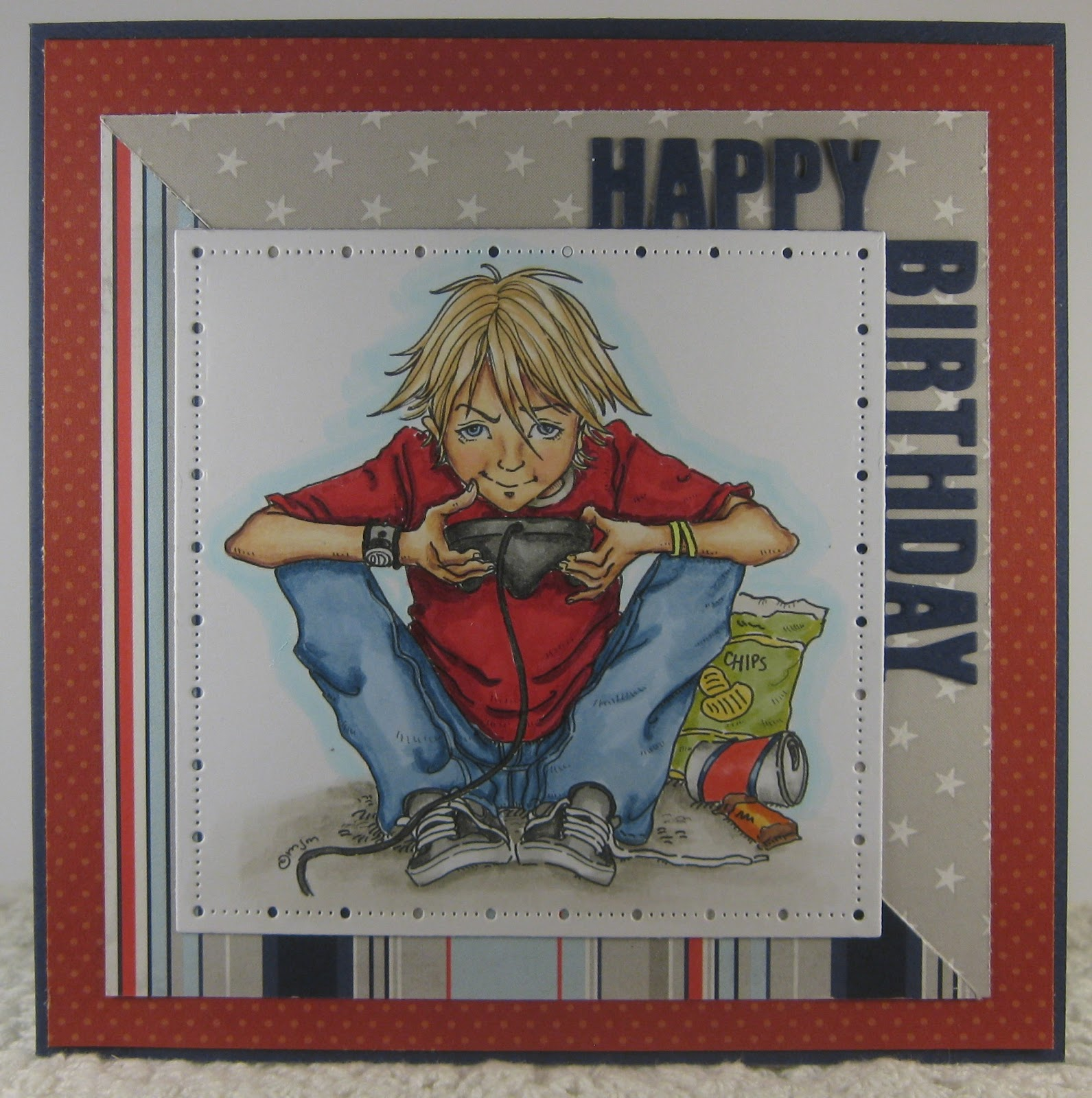 Julie's Crafty Spot: Teen Boy Birthday Card