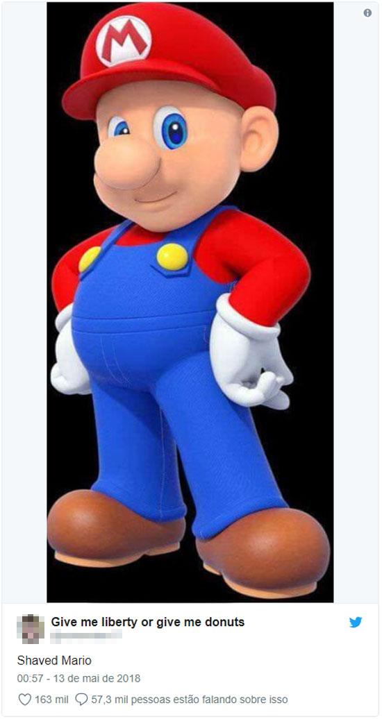 Mario Bros depilado