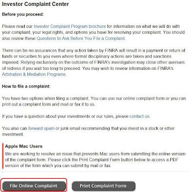 綠角財經筆記: 如何投訴美國券商(How to File a Complaint about Brokerage Firms to FINRA)