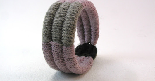 rose and walnut cotton double tapestry weave cuff 4117
